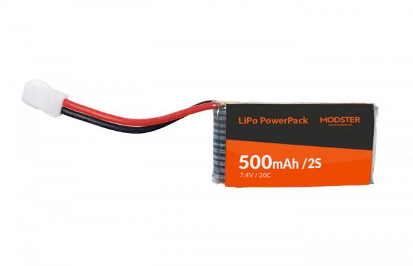 LiPo Pack MODSTER Super Cub 750mm: 2S 7,4V 500mAh