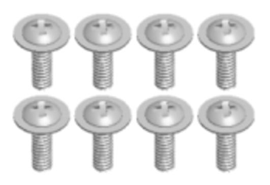 MODSTER Mini Cito: Tellerkopfschrauben M2.5x6 (8)