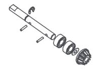 MODSTER Dune Racer/Truggy: Hauptzahnradhalterung Brushless