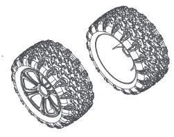 MODSTER Dune Racer/Truggy: Reifen/Felgen