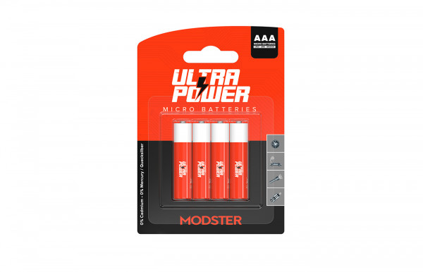 Batterie MODSTER Ultra Power AAA Micro Blister 4 Stück