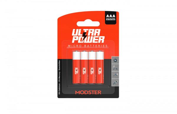 Batterie MODSTER Ultra Power AAA Mignon Blister 4 Stück