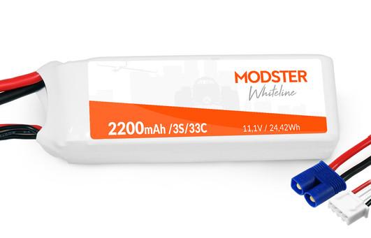 LiPo Akku 3S 11,1V 2200 mAh 30C (EC3) MODSTER WhiteLine