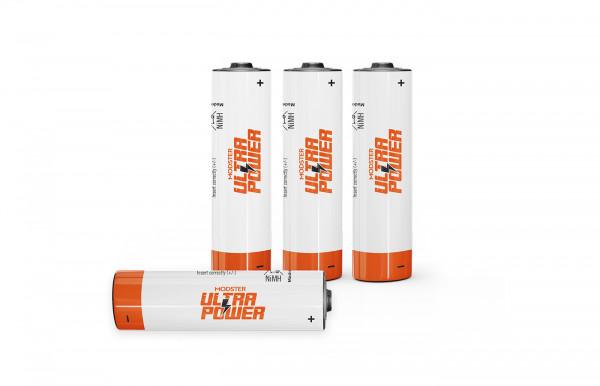 Einzelzelle Akku NiMH MODSTER Ultra Power AA Mignon 2200mAh Blister 4 Stück