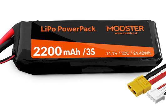 LiPo Akku 3S 11,1V 2200 mAh 30C (XT60) MODSTER PowerPack