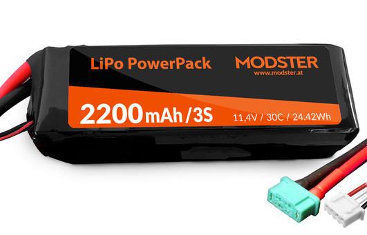 LiPo Pack 3S 11,1V 2200 mAh 30C (MPX) MODSTER PowerPack