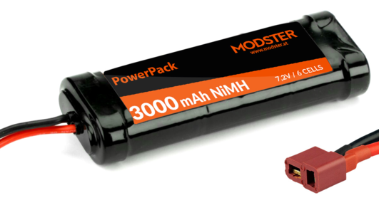 Racingpack MODSTER 3000mAh NiMH 6-Zellen 7,2V mit Deans-Anschluß