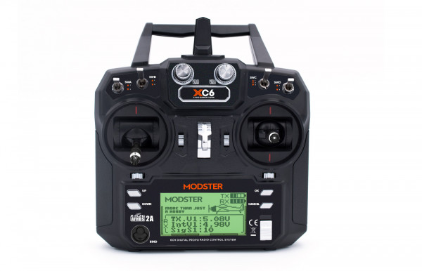 MODSTER XC6 6-Kanal Fernsteuerung inkl. MODSTER MR6 Empfänger