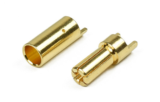 Goldkontaktstecker 5,5mm 1 Paar